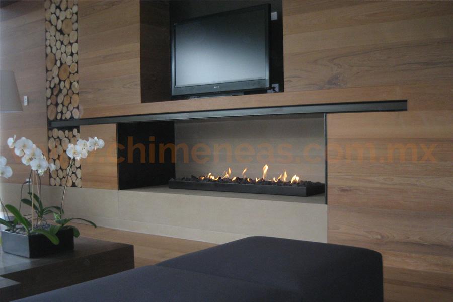 Chimeneas de gas pre fabricadas chimeneas esqueda - Chimeneas de pared modernas ...