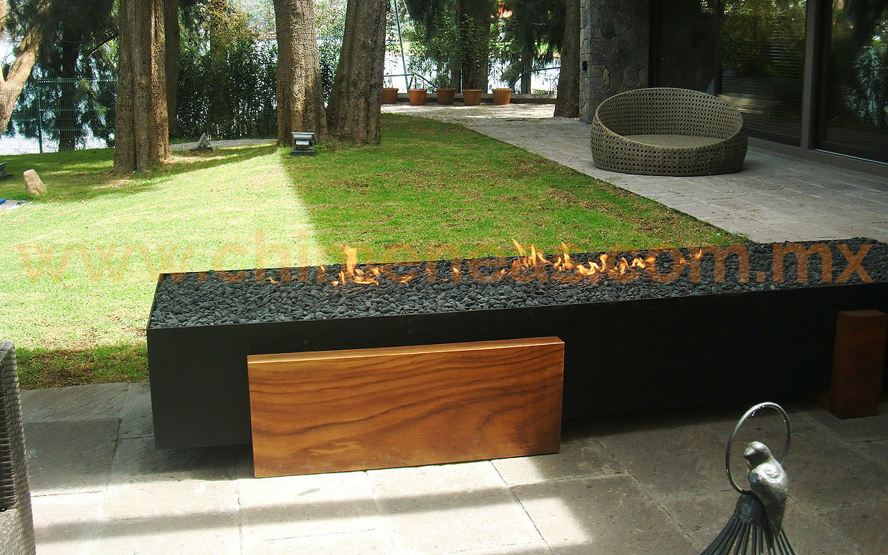 Chimeneas para exteriores chimeneas esqueda - Estufas exteriores para terrazas ...